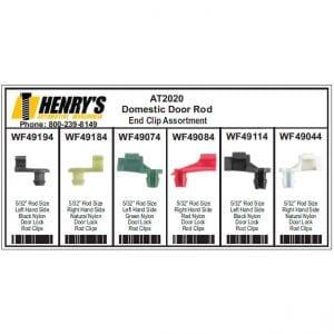 Domestic Door Rod End Clips Assortment