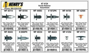 Assortment Tray Honda Retainers at4124