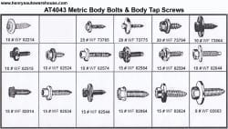 Assortment Tray Metric Body Bolts-at4043