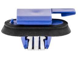 BLUE NYLON MOULDING RETAINER W SEALER 17 X 24MM TOP HEAD 10MM STEM-WF29253