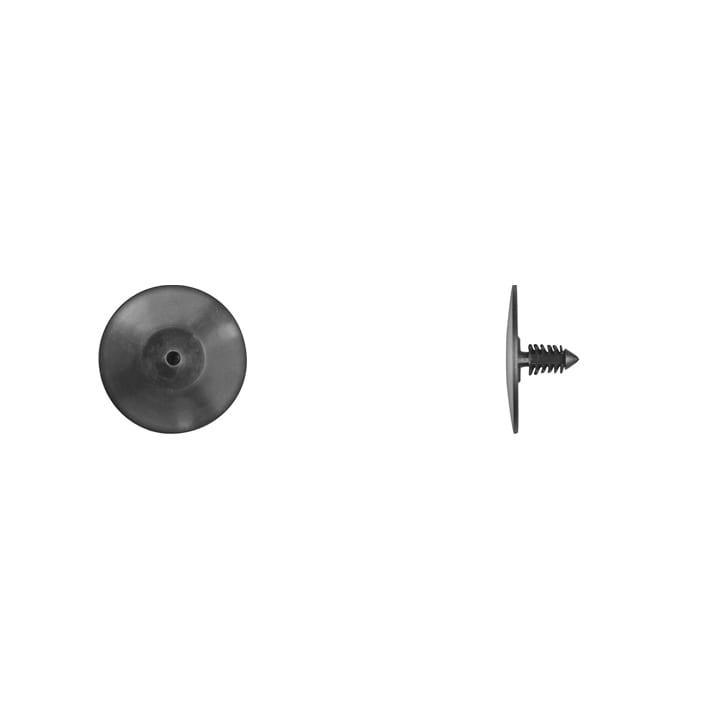 Black Nylon Hood Insulation Retainer  Hole   Head  Stem WF