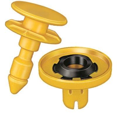 Door Panel Retainer Set w Seal mm Head Yellow WF