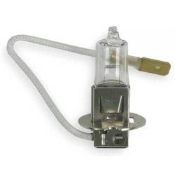 H3 quartz halogen fog lamp bulb with tail