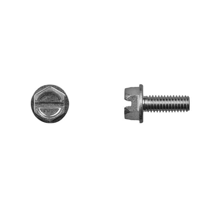 Indented Hex Head Slotted Zinc License Plate Screw