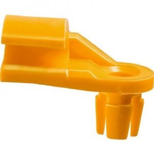 Lock Rod Clip Plastic Left   inch Rod Yellow Nylon WF