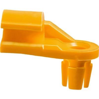 Lock Rod Clip Plastic Left   inch Rod Yellow Nylon WF