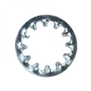 Lock Washer Internal Teeth Zinc Plated  Screw WF