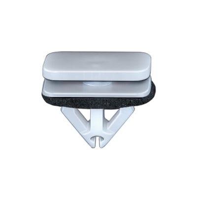 Moulding Clip Windshield Ford Flex White Nylon WF