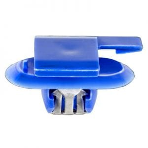 Moulding Clip w Metal BLUE mm Stem WF
