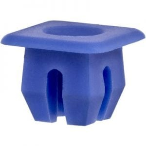 Nylon Nut  Screw Hole   inch Square Blue WF
