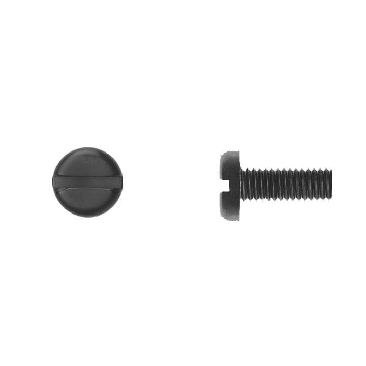 Pan Head Slotted Black Nylon License Screw