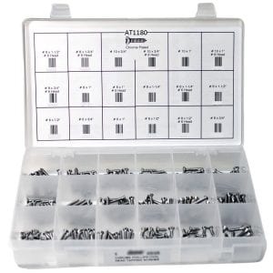 Phillips Chrome Oval Head Screw Assortment - AT1180