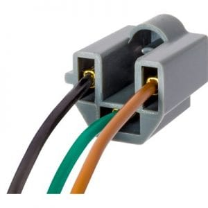 Pigtail Socket for Sealed Beam Bulbs with Fiber Optics ES
