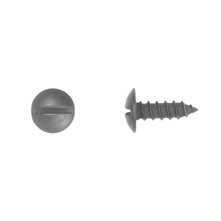 Slotted Truss Head Black License Plate Screw   WF