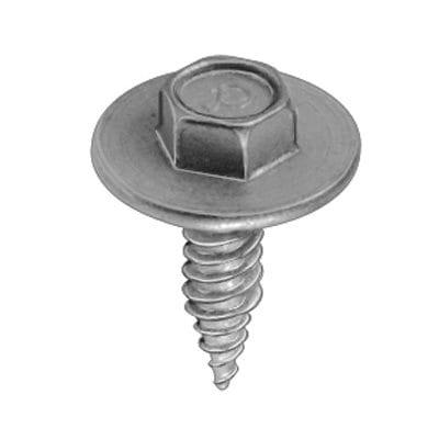 Tap Screw Hex Washer Head Zinc  inch WF