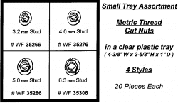 Assortment Tray Metric Tread Cut Nuts