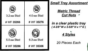 Assortment Tray Metric Tread Cut Nuts