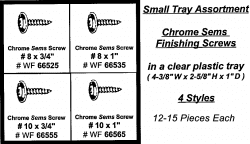 Assortment Tray Chrome Sems Screws
