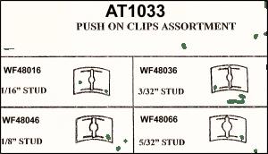 Assortment Tray Push On Clips