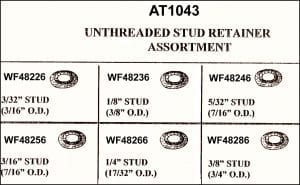 Assortment Tray Unthreaded Stud Retainers