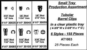 Assortment Tray Tubular Barrel Nuts