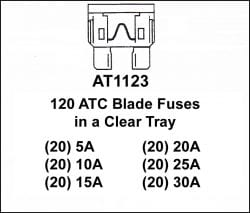 Assortment Tray ATC Blade Fuses