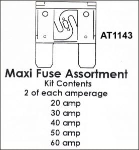 Assortment Tray Maxi Blade Fuses