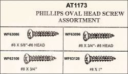 Assortment Tray Phillips Nickel Oval Head Screws