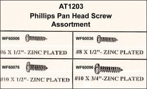 Assortment Tray Phillips Pan Head Screws