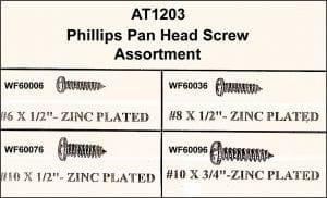 Assortment Tray Phillips Pan Head Screws