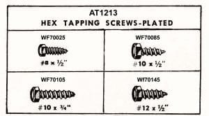 Assotment Tray Hex Tapping Screws