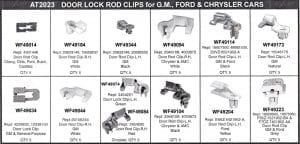 Assortment Tray Door Lock Rod Clips