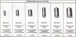 Assortment Tray Vacuum Line Plugs