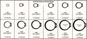 Assortment Tray External Snap Rings