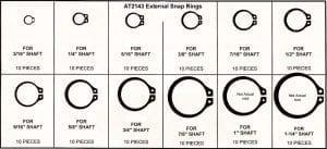 Assortment Tray External Snap Rings