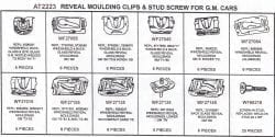 Assortment Tray Reveal Moulding Clips