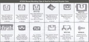 Assortment Tray Reveal Moulding Clips-Ford & Chrysler