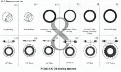 Assortment Tray A/C GM High Temp Service Kit