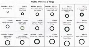 Assortment Tray A/C Green O-Rings