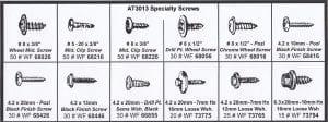 Assortment Tray Sheet Metal Special Screws
