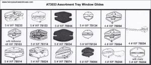 Assortment Tray Door Glass Guide Clips