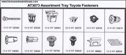 Assortment Tray Toyota Grommets