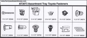 Assortment Tray Toyota Grommets
