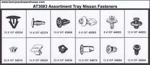 Assortment Tray Nissan Grommets