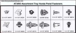 Assortment Tray Honda Panel Fasteners