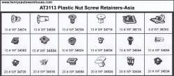 Assortment Tray Plastic Nut Screw Retainers-Asia