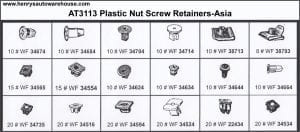Assortment Tray Plastic Nut Screw Retainers-Asia