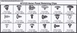 Assortment Tray Panel Retaining Clips-Asian