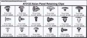 Assortment Tray Panel Retaining Clips-Asian