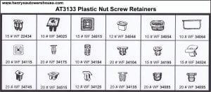 Assortment Tray Plastic Nut Screw Retainers-Domestic